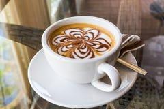 Cappuccino or latte coffee. Stock Photo