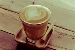 Cappuccino or latte coffee . Royalty Free Stock Photography