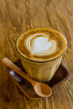 Cappuccino or latte coffee. Stock Photography