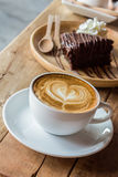 Cappuccino or latte coffee. Royalty Free Stock Image