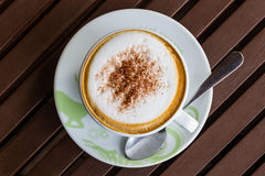 Cappuccino or latte coffee . Royalty Free Stock Images