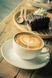 Cappuccino or latte coffee. Stock Images