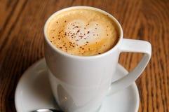 Cappuccino latte cup Stock Photos