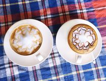 Cappuccino and Latte Royalty Free Stock Images