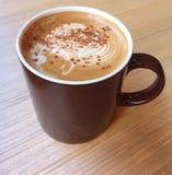 Cappuccino, Latte, Cappuccino kawa, Latte kawa, Latte sztuka, Dojna kawa, Śmietankowa kawa Obraz Stock