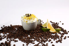 Cappuccino and lime Stock Image