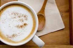 Cappuccino lub latte kawa Obraz Stock
