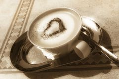 Cappuccino made with love Royalty Free Stock Photos