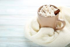 Cappuccino with marshmallow Royalty Free Stock Photography