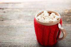 Cappuccino with marshmallow Stock Images