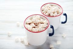 Cappuccino with marshmallow Stock Image