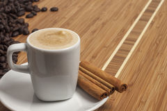 Cappuccino med kanel Royaltyfria Foton