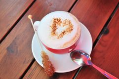 cappuccino miłość Obraz Royalty Free