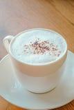 Cappuccino mit Zimt Lizenzfreies Stockfoto