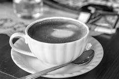 Cappuccino mug close up Stock Photos