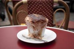Cappuccino na tarasie Fotografia Royalty Free