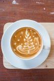 Cappuccino o café del latte Fotografía de archivo libre de regalías