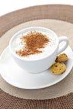 Cappuccino oder latte Kaffee stockbild