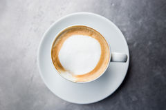 Cappuccino oder latte Kaffee Lizenzfreie Stockfotos