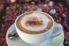 Cappuccino ou café de latte Photographie stock libre de droits