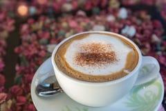 Cappuccino ou café de latte Images libres de droits