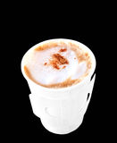 Cappuccino in paper cup Royalty Free Stock Photography