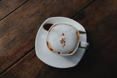 Cappuccino quente Imagens de Stock Royalty Free