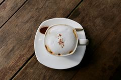Cappuccino quente Foto de Stock