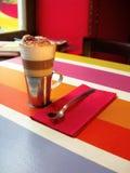 Cappuccino in a restaurant Stock Photos
