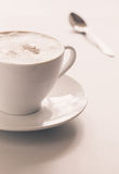 Cappuccino's cup Royalty-vrije Stock Afbeelding