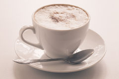 Cappuccino's cup Stock Afbeelding