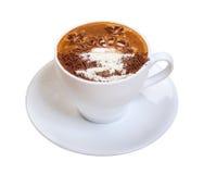Cappuccino's cup.coffee. Stock Foto
