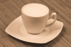 Cappuccino sepia Stock Image