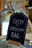 Cappuccino sign. A caffe and cappuccino sign Royalty Free Stock Images