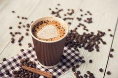 Cappuccino smakowita filiżanka Obraz Stock