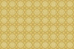 Cappuccino Soft Cream Oriental Arabian Ornamental Wallpaper stock illustration