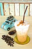 Cappuccino squisito del caffè di ghiaccio Fotografie Stock