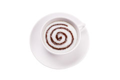 Cappuccino swirl Royalty Free Stock Photography