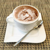 Cappuccino sztuka w filiżance Fotografia Royalty Free