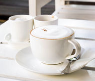 Cappuccino on the table Royalty Free Stock Images