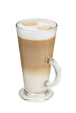 Cappuccino in tall cup with milk foam Stock Image
