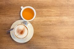 Cappuccino and Tea Stock Photos