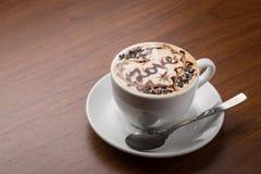 Cappuccino terminado Foto de Stock Royalty Free