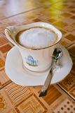 Cappuccino terminado Imagens de Stock Royalty Free