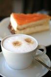 cappuccino tortowy kawałek Zdjęcie Royalty Free