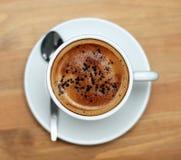 Cappuccino - trinken Sie mich! Stockbilder