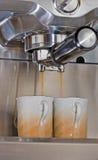 cappuccino två Fotografering för Bildbyråer