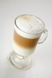 Cappuccino two colors royalty free stock images
