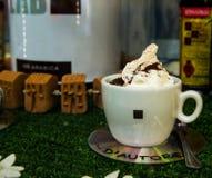 Cappuccino und Musik Stockbild