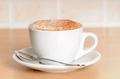 cappuccino up zamknięty Zdjęcie Stock